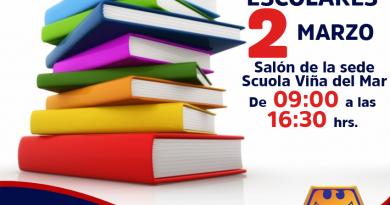 Feria de textos escolares en Scuola de Viña del Mar.