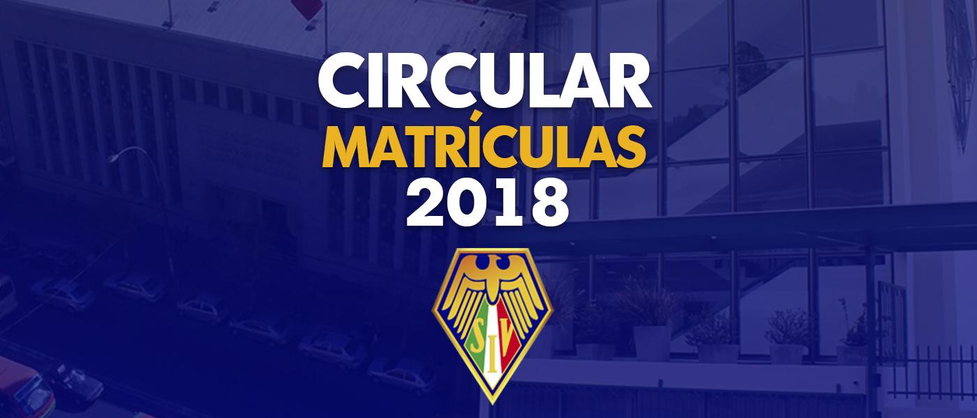 Circular Matrículas 2018