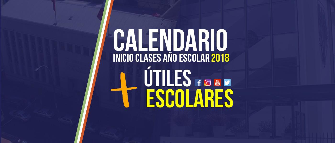 Calendario Inicio 2018