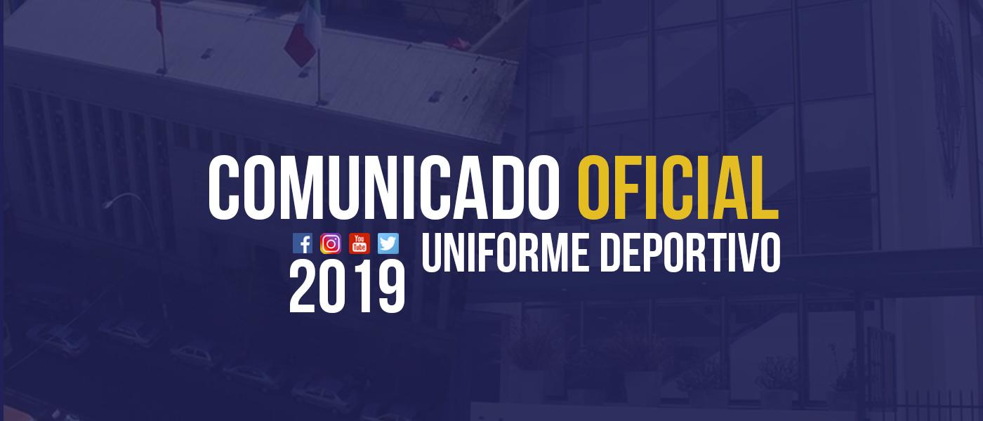 Comunicado Oficial: Uniforme Deportivo