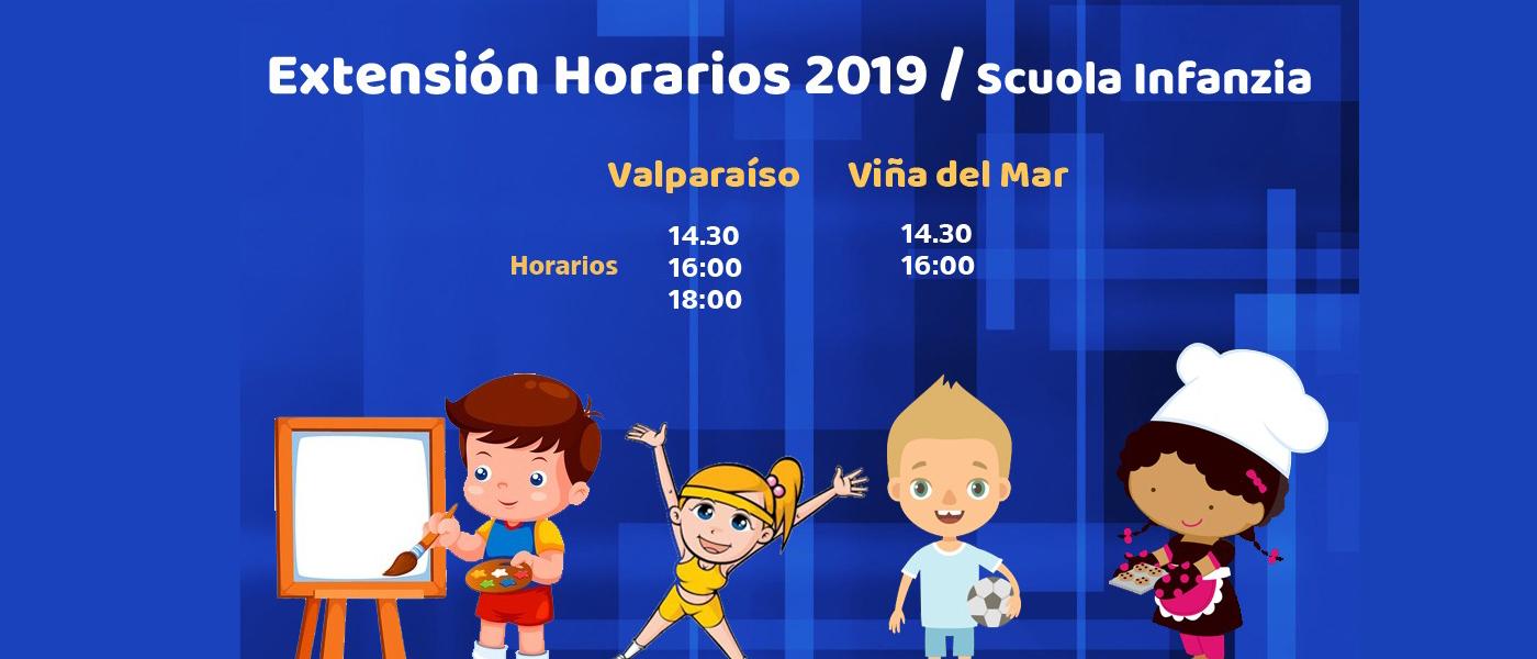 Extensión horaria Viña del Mar y Valparaíso año 2019.