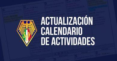 Actualización Calendario Actividades